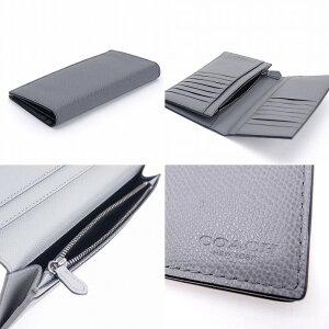 コーチCOACH財布メンズ長財布二つ折りレザークロスグレン74978ASHブランド人気