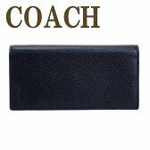 コーチ 財布 COACH メンズ 長財布 二つ折り レザー クロスグレーン 74978BLK ブランド 人気