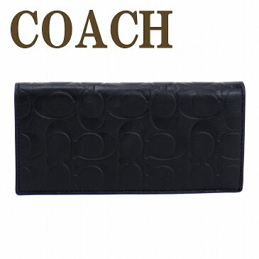 コーチ 長財布 メンズ コーチ COACH 財布 二つ折り レザー シグネチャー 黒 ブラック 75026BLK ブランド 人気