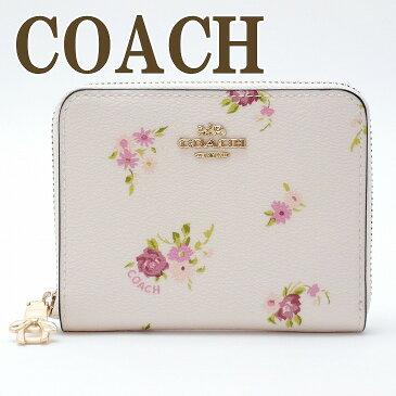 コーチ 財布 COACH 二つ折り 財布 レディース 花柄 ピンク 29449IMCAH ブランド 人気