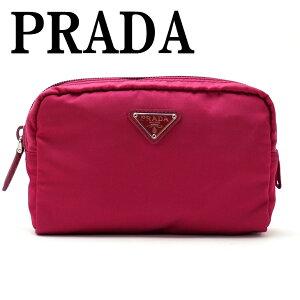 プラダ PRADA ポーチ コスメポーチ 化粧ポーチ  ピンク 小物 ロゴ 1NA021-2BQP-F0BA8 ブランド 人気