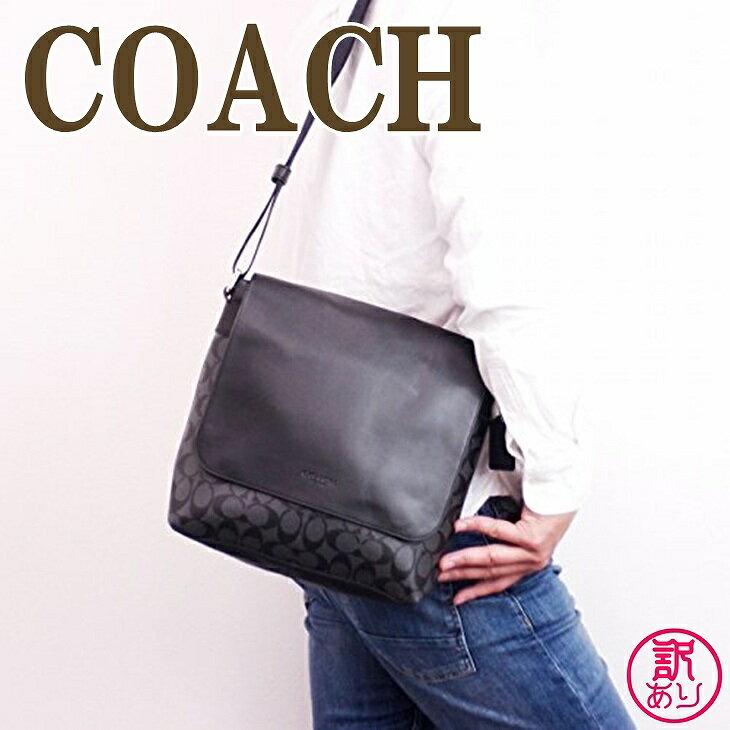 【訳あり】コーチ COACH バッグ メンズ ショルダーバッグ 斜め掛け シグネチャー 54771CQBK-W1 ブランド 人気
