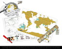 scratch map travel edition / スクラッチマップ トラベルエディションA3 サイズ 世界地図 地図...