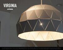 VIRGINIA1P/バージニア1灯APROZアプロス/ダイニング照明ライト照明ランプ天井ペンダントライトジオデシックドーム型AZP-622-BK