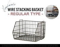 REGULARWireStackingBasket/ワイヤースタッキングバスケットW34×D36×H24cmスチール収納衣類収納什器ショップカゴDETAIL