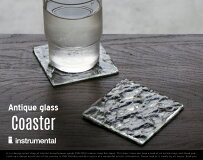 AntiqueGlassCoaster/アンティークガラスコースターinstrumentalインストゥルメンタルガラス製コースター日本製