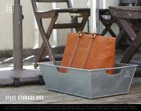 STEELSTORAGEBOX(Rectangle)/スチールストレージボックスPUEBCOプエブコW33.5cm×D50cm荷物置き飲食店