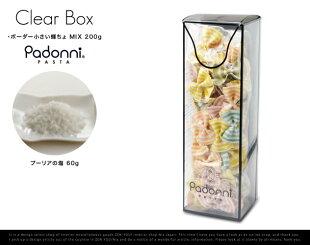 【Padonni/パドンニ】Clearbox/クリアボックスイタリア産パスタ内祝いパスタセット引出物誕生日お祝いプレゼントお返しこだわりギフト輸入食品パドーニGiftギフトWP-005【あす楽対応_東海】
