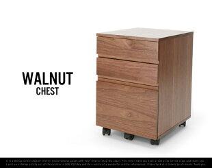 WalnutChest/ウォールナットチェストミッドセンチュリーPCデスクチェスト書斎emoanthemエモアンセムwood木ブラウン引き出し付き