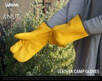 LEATHERCAMPGLOVES/レザーキャンプグローブ&NUT×Welza/アンドナットウェルザキャンプBBQ鍋つかみ手袋ミトン