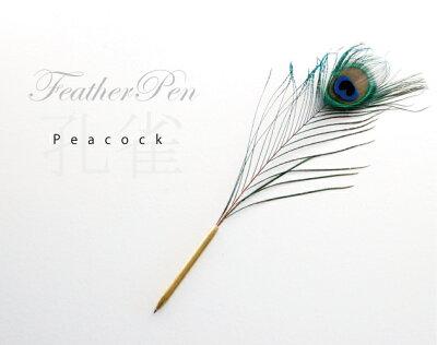 FeatherPen フェザーペン 羽ペンPeacock ピーコック 孔雀 クジャク PUEBCO プエブコ ボール...