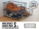 【S】WIRE BASKET SHOES BOX / Sサイズ ワイヤー バスケット シューズボックス PUEBCO / プエブコ ケース ボックス 収納 靴 112336【あす楽対応_東海】の写真