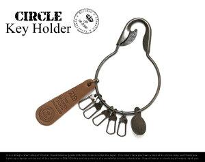 Circle Key Holder/サークル キー ホルダーPicus/ピクス 合金 キー カギ 中世 アンティーク カラビナ レザー【あす楽対応_東海】