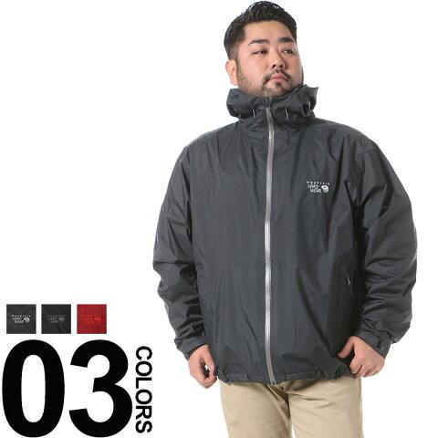 大きいサイズ メンズ Mountain Hardwear (マウンテンハードウェア) ロゴ刺繍 無地 フード付き フルジップ ブルゾン BIG SIZE カジュアル アウター パーカーブルゾン シンプル 秋 冬
