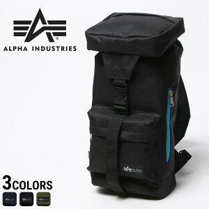 e4466e5f4938 ALPHA INDUSTRIES INC (アルファ インダストリーズ) 消臭効果 ロゴ 背面ファスナー付き フラップ ボディ
