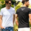 エンポリオアルマーニ EMPORIO ARMANI Tシャツ 胸ロゴ クルーネック 半袖 アンダーTシャツ ブランド メンズ 男性 カジュアル アンダーウェア EA111035CC735