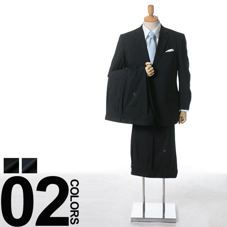 大きいサイズ メンズ HYBRIDBIZ (ハイブリッドビズ) HYBRIDBIZ COOL ウォッシャブル 消臭 抗菌 防臭 ピンストライプ シングル 2ツ釦 ワンタック ツーパンツ スーツ 男性 ビジネス シングルスーツ 2パンツ 機能性 春夏:ゼンオンライン