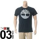 大きいサイズ メンズ Timberland (ティンバーランド) 綿100% ロゴプリント クルーネック 半袖 Tシャツ BIG SIZE カジュアル トップス ティーシャツ プリントT コットン100%