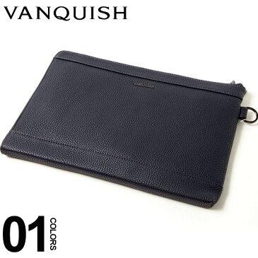 ヴァンキッシュ VANQUISH クラッチバッグ グレインレザー ブランド メンズ 鞄 バッグ 革 VQM41150
