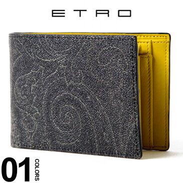 エトロ ETRO 財布 二つ折り ハーフウォレット イエロー ブランド メンズ ET068888002