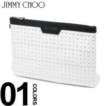 ジミーチュウ JIMMY CHOO クラッチバッグ スター スタッズ レザー DEREK デレク ブランド メンズ レディース 鞄 バッグ 革 星 JCDEREKUIG