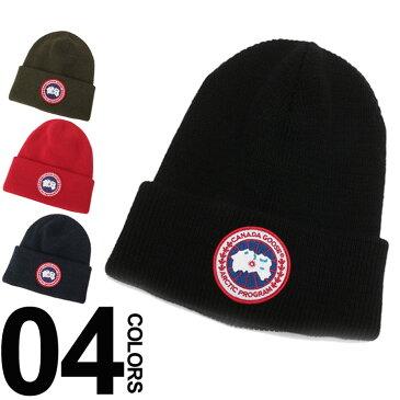 カナダグース CANADA GOOSE ニットキャップ ロゴワッペン ビーニー 耐久撥水 ウール100% ブランド メンズ レディース 帽子 ワッチ CG5350M