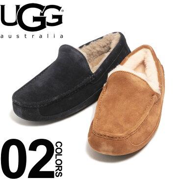 アグ オーストラリア UGG Australia アスコット ASCOT モカシン シープスキン ボア スリッポン メンズ ブランド 靴 フラットシューズ ローファー 撥水 UGG1101110 【endsale_18】