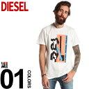 ディーゼル DIESEL Tシャツ 半袖 プリント クルーネック ブランド メンズ トップス コットン カットソー DSSNSWPATI