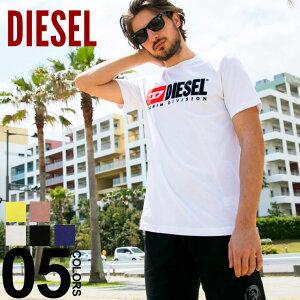ディーゼル DIESEL Tシャツ 半袖 ロゴ 刺繍 クルーネック ブランド メンズ トップス カットソー レディース ペアルック 2019SS DSSH0ICATJ SALE_1_a