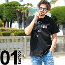 Lifted Anchors リフテッドアンカーズ Tシャツ 半袖 手書き風プリント BLACK ブランド メンズ トップス ストリート バックプリント LALAHL1833