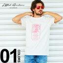 Lifted Anchors リフテッドアンカーズ Tシャツ 半袖 フォトプリント WHITE ブランド メンズ トップス ストリート バックプリント LALAHL1845