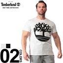 大きいサイズ メンズ Timberland (ティンバーランド) 綿100% ビッグロゴ クルーネック 半袖 Tシャツ カジュアル トップス シャツ プリント コットン 春夏 TB0A1N8Y