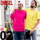 ディーゼル DIESEL Tシャツ 半袖 ロゴ 刺繍 胸ポケット ブランド メンズ トップス クルーネック DSSH13BASU