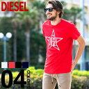 ディーゼル DIESEL Tシャツ 半袖 スター ロゴ プリント ブランド メンズ トップス 星 クルーネック DSSNRE091A