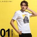 ラルディーニ LARDINI Tシャツ 半袖 ルネ・グリュオー イラスト プリント クルーネック ブランド メンズ トップス LDLTCLUBEG52185