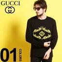 グッチ GUCCI Tシャツ 長袖 ロンT メタル プリント クルーネック ブランド メンズ トップス カットソー プリント GG GC476330XJAI7
