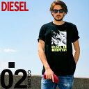 ディーゼル DIESEL Tシャツ 半袖 バイク グラフィック プリント T-JUST-Y3 ブランド メンズ トップス コットン DSSSPR091A