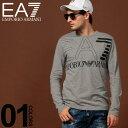 エンポリオ アルマーニ EA7 EMPORIO ARMANI ロンT ロゴ クルーネック 長袖 Tシャツ ブランド メンズ トップス プリント カットソー EA6GPT12PJ02Z