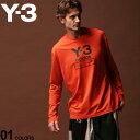 Y-3 ワイスリー Tシャツ 長袖 ロンT カットソー ロゴ プリント クルーネック STACKED LOGO ORANGE ブランド メンズ トップス アディダス Yohji Yamamoto Y3FJ0408