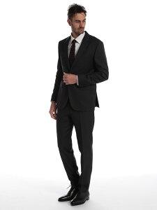 ヒューゴ ボス メンズ スーツ HUGO BOSS ウール マイクロジャガード シングル 2ツ釦 2B REGULAR FIT グレー ブランド ビジネス ノータック レギュラーフィット HBRJS10198644
