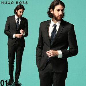ヒューゴ ボス メンズ スーツ HUGO BOSS ウール100% ミニドット シングル 2ツ釦 2B ノータック SLIMFIT ブランド ビジネス スリムフィット 総裏 HBHG10225304