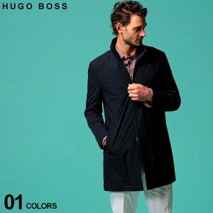 ヒューゴ ボス メンズ コート HUGO BOSS ストレッチ ナイロン パッカブル スタンドカラー スプリングコート ブランド アウター HBDEEAN10224617 SALE_2_b
