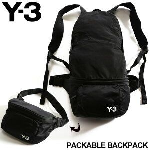Y-3 メンズ バッグ ワイスリー バックパック ボディバッグ 2WAY ナイロン ロゴ PACKABLE BACKPACK ポケッタブル ブランド 鞄 リュック Y3FQ6993 SALE_5_a