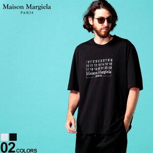 メゾン マルジェラ メンズ Tシャツ 半袖 Maison Margiela ロゴ プリント タグ クルーネック NUMERIC LOGO ブランド トップス クルー プリントT ロゴT MIGC0696S22816