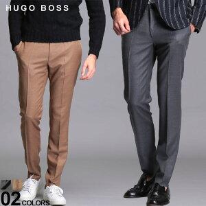 ヒューゴボス メンズ スラックス HUGO BOSS ウール ジャージー ストレッチ ノータック パンツ ブランド ボトムス トラウザー HBGIRO10229270 SALE_3_a