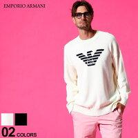 エンポリオアルマーニ メンズ EMPORIO ARMANI イーグル ロゴ クルーネック ニットソー ブランド トップス スプリングニット サマーセーター コットン EA3K1MTA1MD5Z SALE_1_f