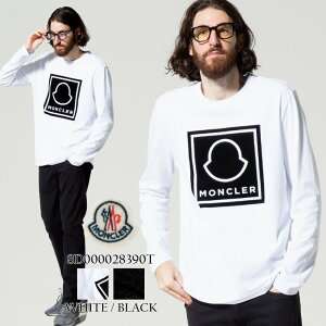 モンクレール メンズ MONCLER ワッペン ロゴ クルーネック 長袖 Tシャツ ブランド トップス ロンT カットソー MC8D000028390T 2021AW