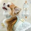 ベスト型ハーネス胴輪ドッグウェア犬用GLITTERPOOCHグリッタープーチ/アクアネッタレディ/リード付/超小型犬小型犬対応可