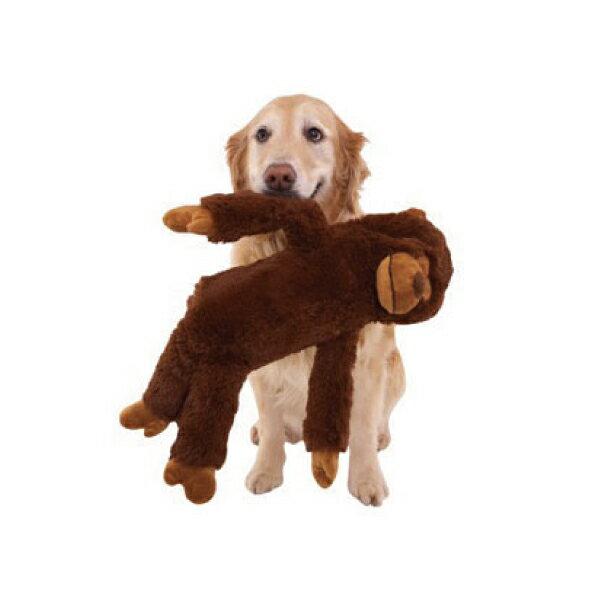 犬のおもちゃ 犬用 DOGGLES ドグルス Brown Monkey ブラウン モンキー 玩具 ドッグトイ お散歩 しつけ 訓練 ぬいぐるみ 音が鳴る なき笛 海外直輸入 ブランド / 小型犬 中型犬 大型犬