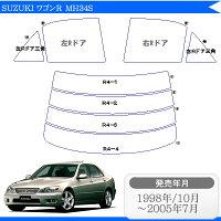 トヨタ(TOYOTA)アルテッツァ4ドア.セダンSXE10車種別カット済みカーフィルムノーマルタイプUV99%カット(紫外線)から断熱(赤外線)まで幅広く選べる!